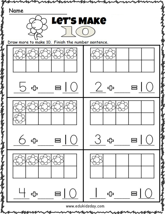 Addition Worksheets - Making 10