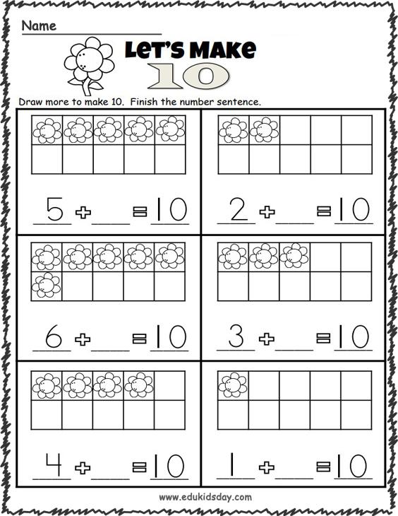 Addition Worksheets - Making 10
