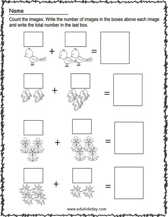 Printable Spring Addition Worksheets