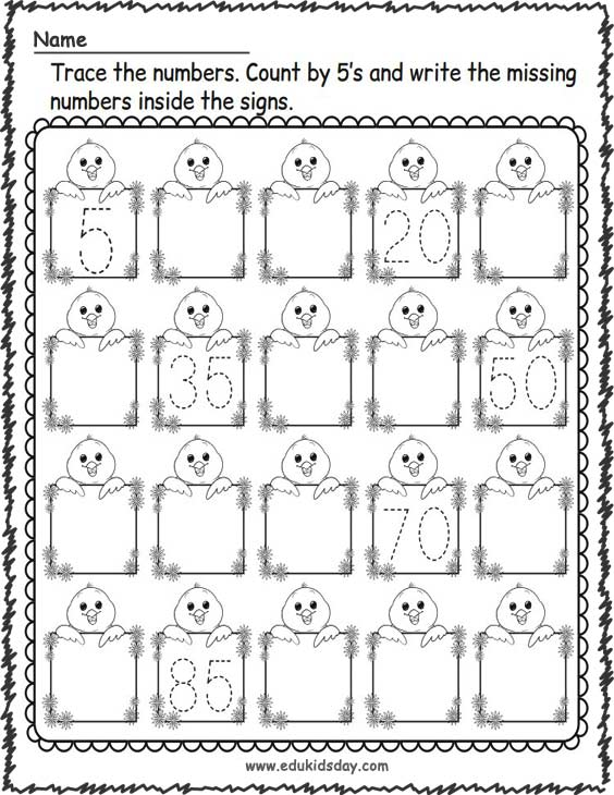 Printable Spring Counting Worksheets