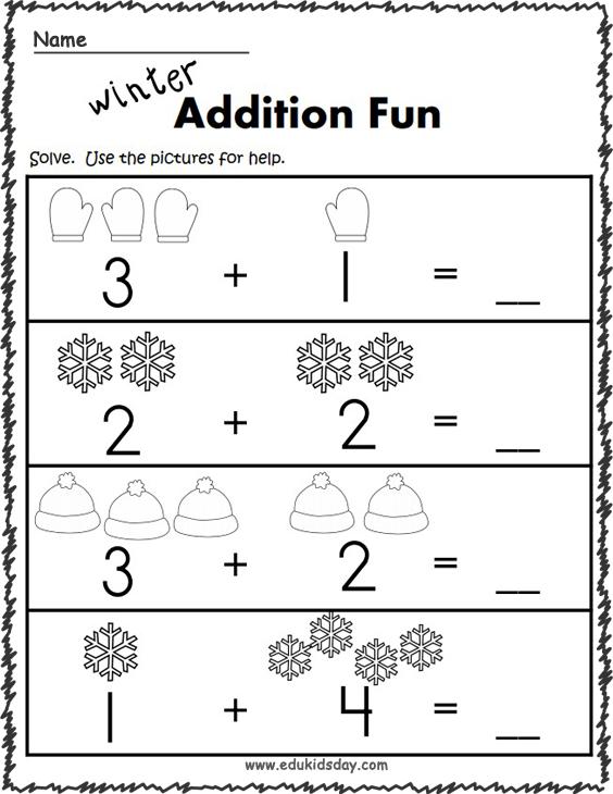 Winter Addition - 1 Digit