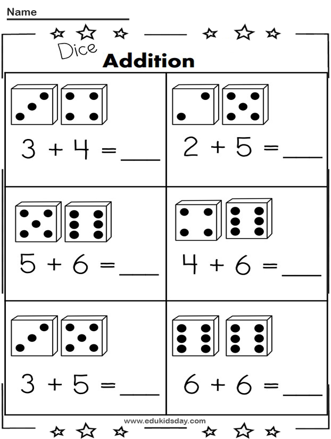 Free 1 Digit Addition Math Worksheet