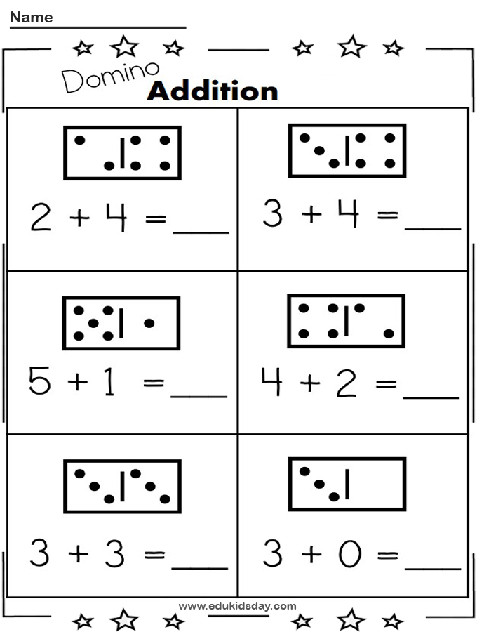 Free 1 Digit Addition with Dominos