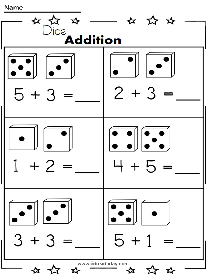 Free Addition 1 Digit With Dice