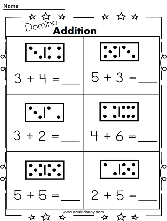 Free Addition Worksheet 1 Digit With Dominos