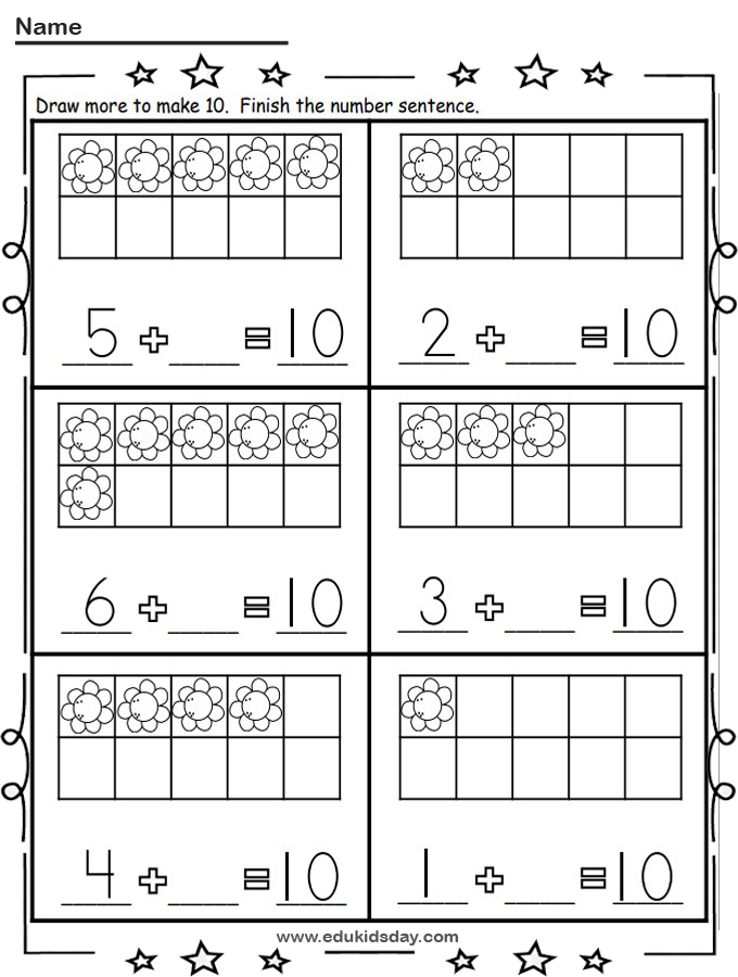 Free Addition Worksheet Making 10