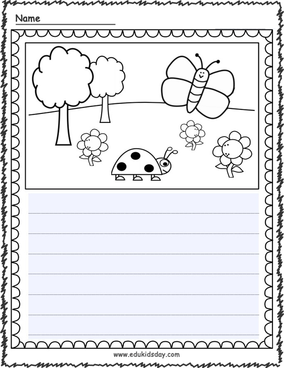 Free Fillable Writing Page for Distance Learning