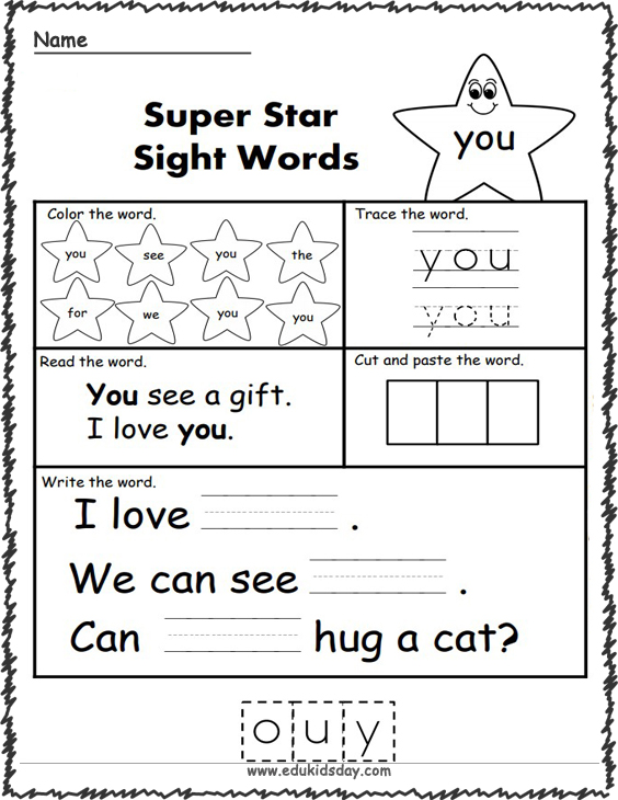 Free Sight Word Practice - You