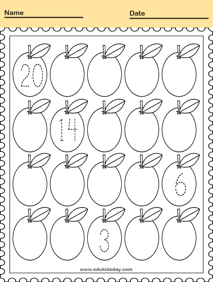 Printable Counting Worksheet for Kindergarten