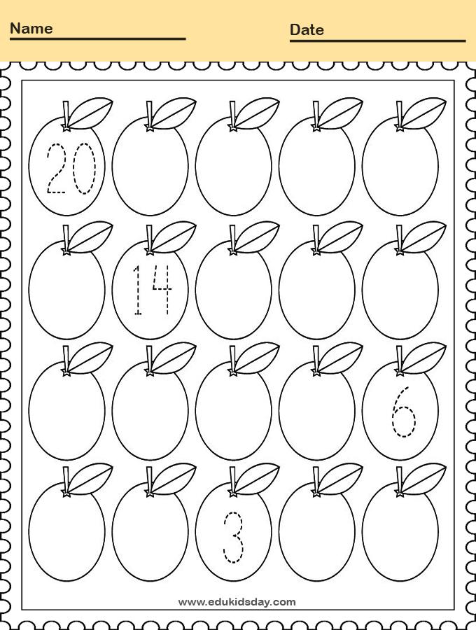 Printable Counting Worksheet for Kindergarten
